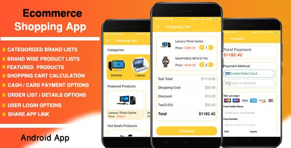 Android E-commerce Shopping App