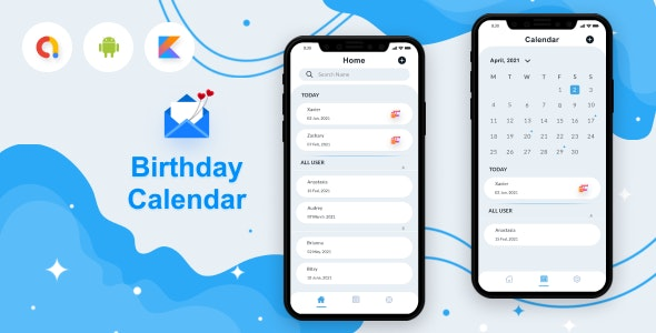 Birthday Calendar Android App - CodeCanyon Item for Sale