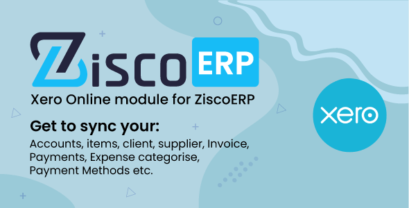 Xero Sync Module for ZiscorERP