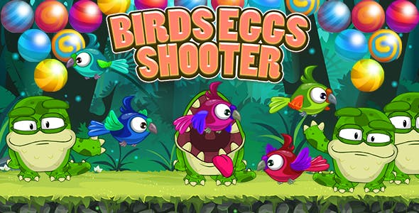 Birds Eggs Shooter Bubble Shooter Game (Construct 3 | C3P | HTML5) Admob and FB Instant Ready