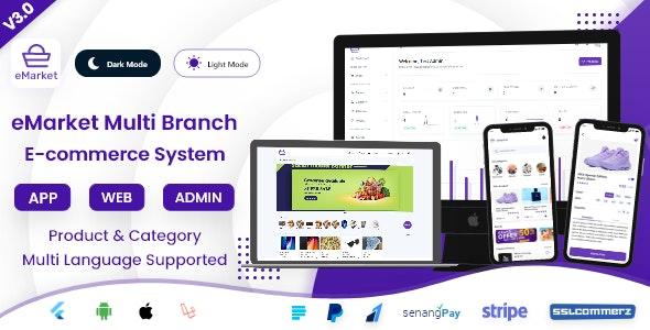 eMarket E-commerce - Mobile eCommerce App & Website with Laravel Admin Panel + Delivery Man App V3.0 - CodeCanyon Item for Sale