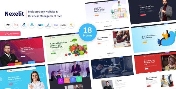 Nexelit - Multipurpose Website & Business Management System CMS - CodeCanyon Item for Sale