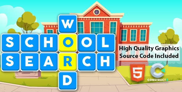 School Word Search for Kids - CodeCanyon Item for Sale