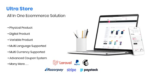 Ultra Store - Laravel All In One Ecommerce Solution