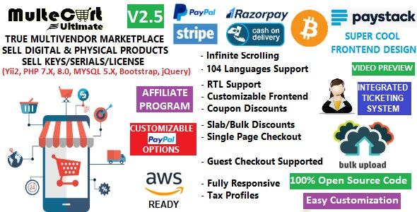 MulteCart Ultimate Ecommerce - Digital Multivendor Marketplace Online Store - eShop CMS - CodeCanyon Item for Sale