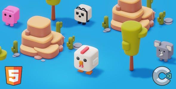 Crossy Chicken - (HTML5 Game - Construct 3)