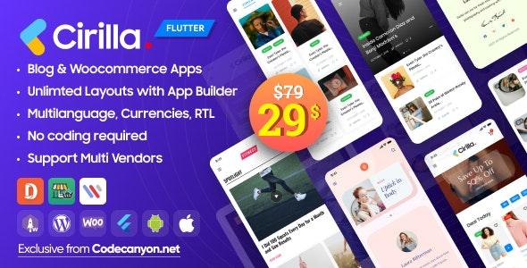 Cirilla - Multipurpose Flutter Wordpress App - CodeCanyon Item for Sale