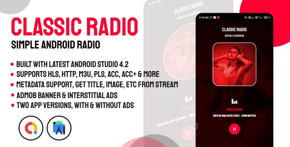 Classic Radio | Simple and Easy Radio Player for Android