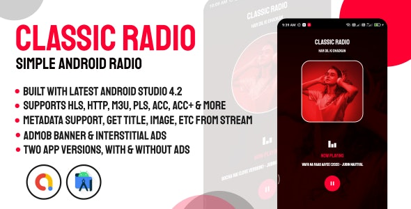 Classic Radio   Simple and Easy Radio Player for Android - CodeCanyon Item for Sale