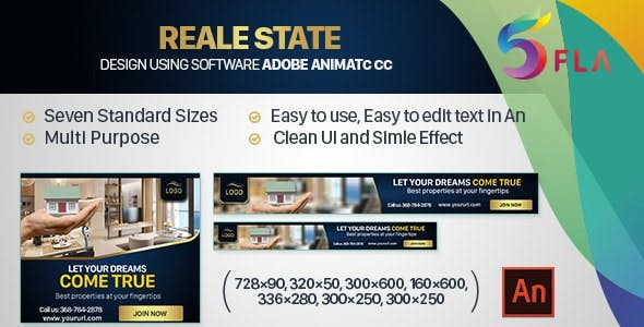 Real Estate HTML5 Ad (Animate CC)