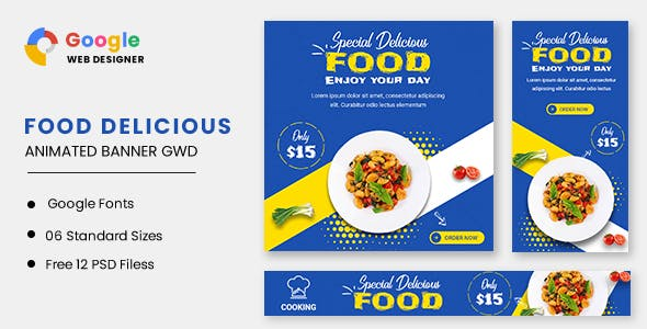 Food Delicious Animated Banner GWD
