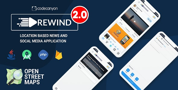 Rewind - Location based News and Entertainment Social Media Application - CodeCanyon Item for Sale