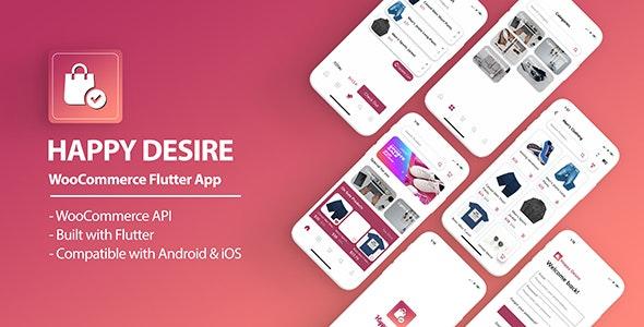 Happy Desire - Flutter WooCommerce App - CodeCanyon Item for Sale