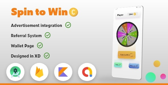 Spin To Win & Earn With Admob Integrated (Kotlin) - CodeCanyon Item for Sale