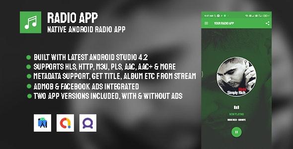 Radio App v3.0 – Native Android Radio App with AdMob & Facebook Ads