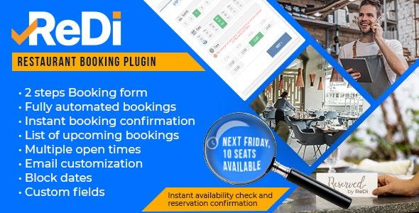 ReDi v21.0914 – Restaurant Booking plugin for WordPress