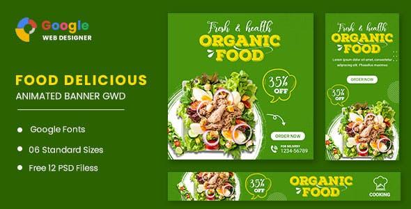 Organic Food Animated Banner GWD