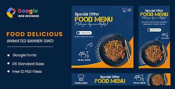 Food Menu Animated Banner GWD
