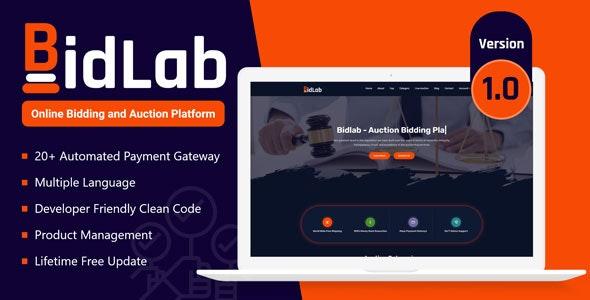 BidLab - Online Bidding & Auction Platform - CodeCanyon Item for Sale