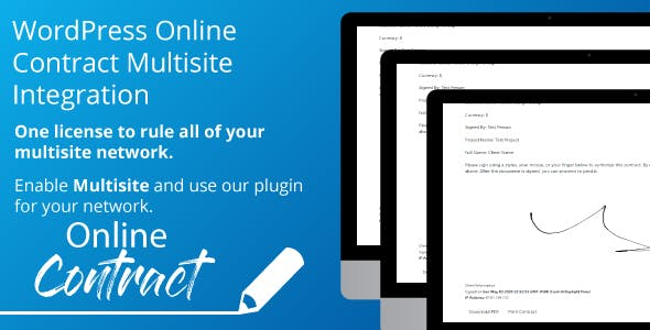WP Online Contract Multisite Integration