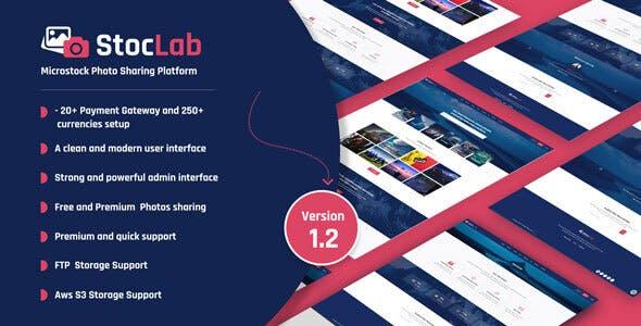 StocLab - Microstock Photo Sharing Platform