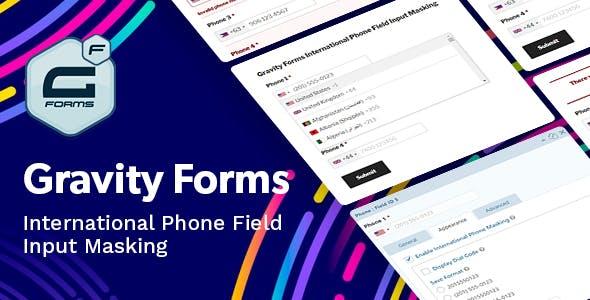 Gravity Forms International Phone Field Input Masking
