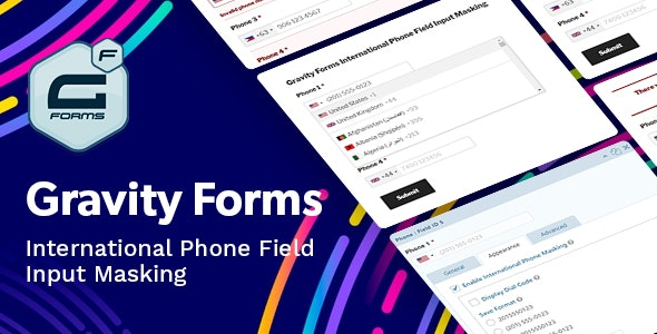 Gravity Forms International Phone Field Input Masking - CodeCanyon Item for Sale