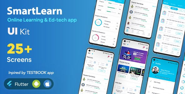 SmartLearn - Online Learning app | Exam Preparation app | UI Kit