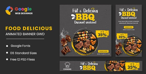 Food BBQ Animated Banner GWD