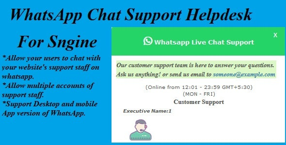 WhatsApp Chat Support Helpdesk For Sngine - CodeCanyon Item for Sale