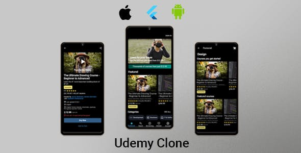 Udemy Clone - Flutter UI Kit