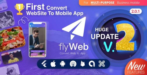 FlyWeb for Web to App Convertor Flutter + Admin Panel v2.0.1