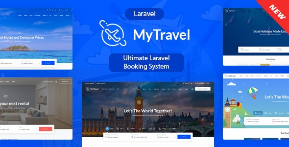 MyTravel  - Ultimate Laravel Booking System - CodeCanyon Item for Sale