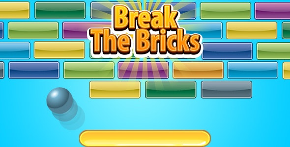 Break The Bricks (CAPX | HTML5 | Cordova) Mini Game - CodeCanyon Item for Sale