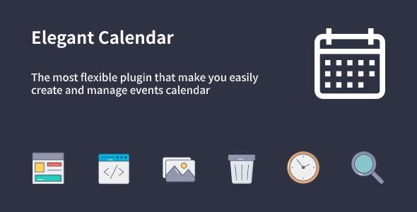 Elegant Calendar v1.1.0 – WordPress Events Calendar Plugin