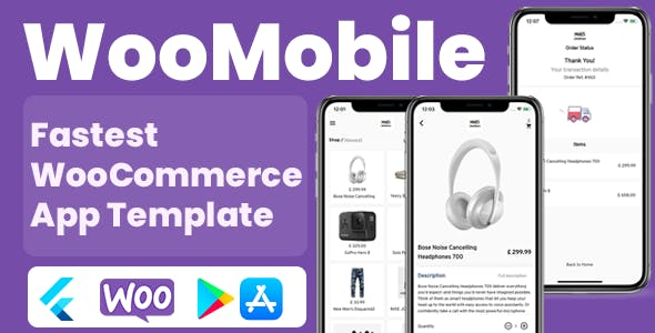 WooMobile - Flutter WooCommerce App Template for IOS and Android
