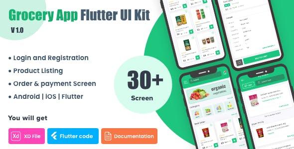 Grocery Shopping App UI Kit | Flutter