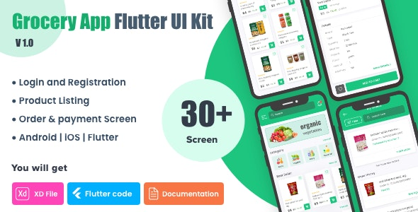 Grocery Shopping App UI Kit   Flutter - CodeCanyon Item for Sale