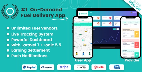 On Demand Fuel Gas Delivery Mobile App - Lofuel - CodeCanyon Item for Sale