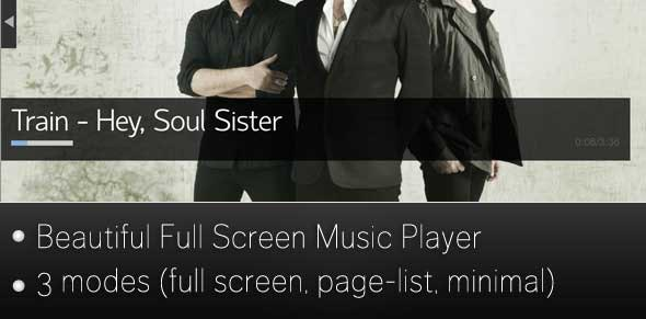 Fullscreen Music Player - CodeCanyon Item for Sale