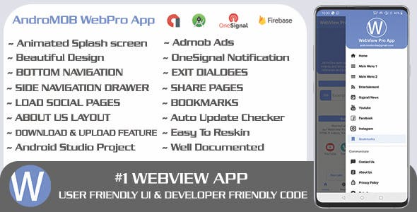WebPro - Easy Configurable Android WebView Pro App Template