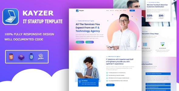 Kayzer - Business & IT Startup Template