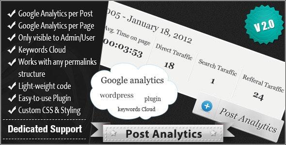 Post Analytics - CodeCanyon Item for Sale