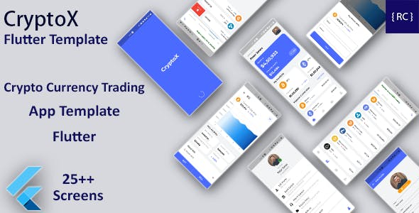 Crypto Currency Trading Android App Template + iOS App Template   FLUTTER   CryptoX
