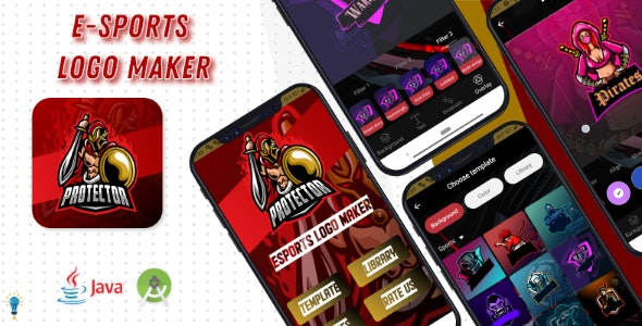 E-Sports Logo Maker - Android Code - CodeCanyon Item for Sale