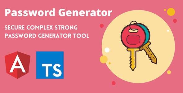 Secure Password Generator Tool Full Production Ready App (Angular 11 & Typescript)
