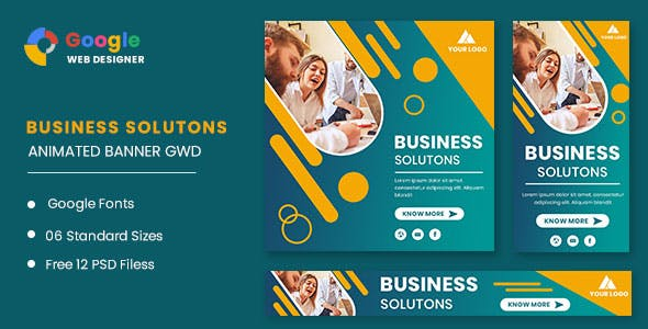 Business Solution Animated Banner GWD