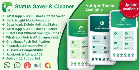 Status Saver & Cleaner Pro(WhatsApp & WhatsApp Business) - CodeCanyon Item for Sale