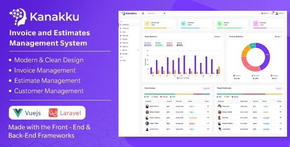 Kanakku - Invoice and Estimates Management System - (Frontend - Vuejs + Backend - Laravel) - CodeCanyon Item for Sale