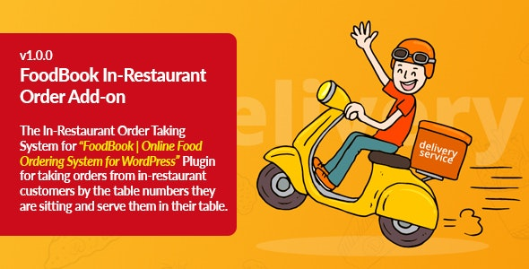 FoodBook In-Restaurant Orders Add-on - CodeCanyon Item for Sale